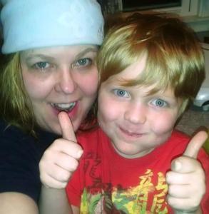 Michelle & her son